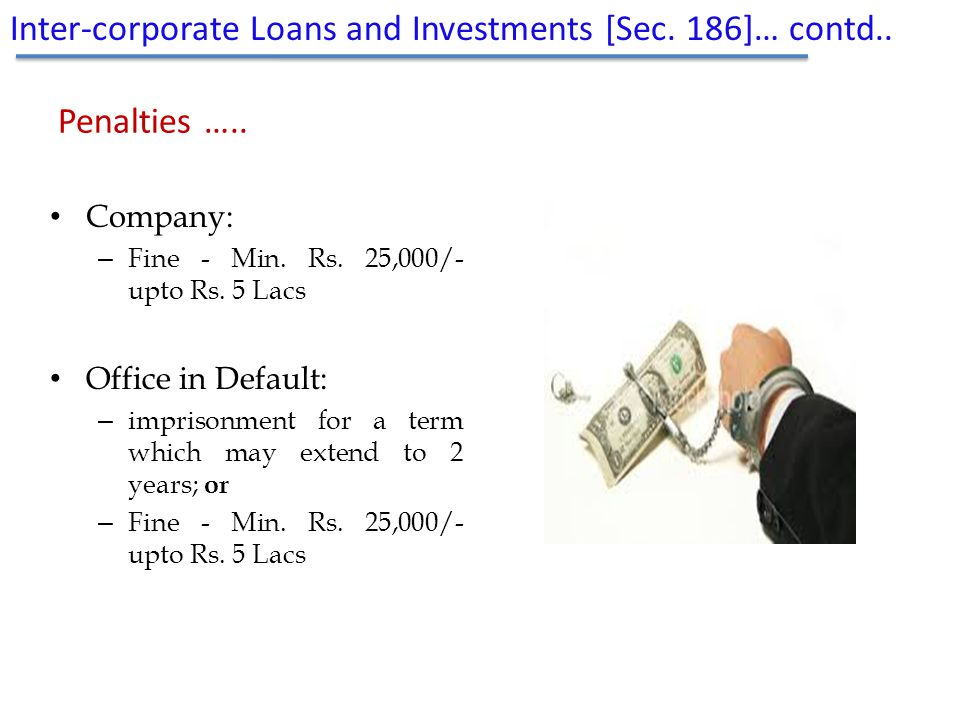 Inter-corporate Loans and Investments [Sec. 186]… contd..